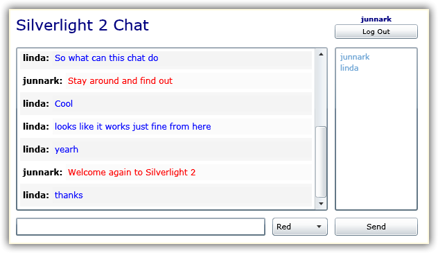 Silverlight 2 Chatroom